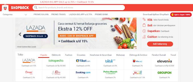 Belanja Online Pakai ShopBack, Dapat Kupon Voucher, Promo Diskon dan Cashback, Loh!