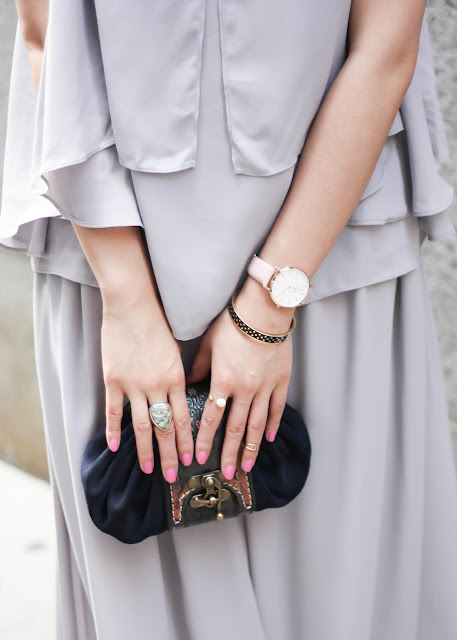How to Look Sophisticated Cluse Watch and Pastel Colors