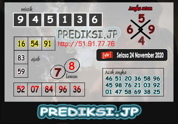 Prediksi JP HK Selasa 24 November 2020