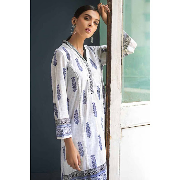 Gul Ahmed Black & White Printed shirts unstitched collection