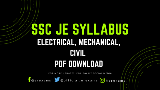 SSC JE Syllabus – Electrical, Mechanical, Civil PDF Download - ErExams - Engineering Exams Guidance RSS Feed  IMAGES, GIF, ANIMATED GIF, WALLPAPER, STICKER FOR WHATSAPP & FACEBOOK