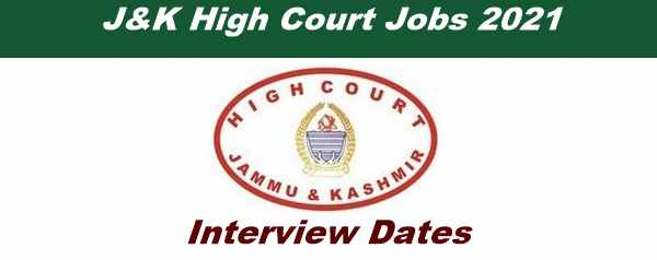 J&K High Court Revised Interview Dates Out for Driver-I,II Posts (Notification No. 01 of 2020)