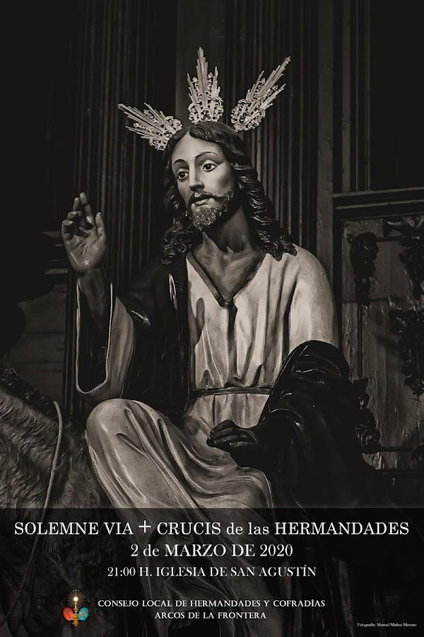 Cartel del Via+Crucis oficial de Arcos de la Frontera