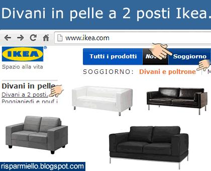 Risparmiello prezzo divani in pelle a 2 posti ikea for Divani ikea due posti
