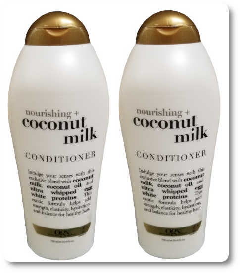 Comb my curly hair in the shower and use OGX Coconut Conditioner