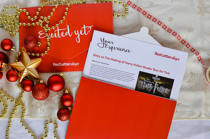 Harry potter gift guide, red letter day experience
