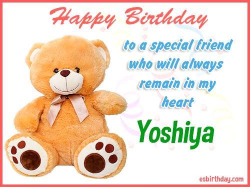 Yoshiya Happy birthday friend