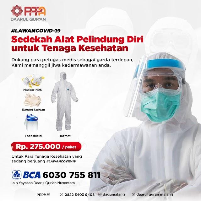 Sedekah Alat Pelindung Diri (APD) Untuk Tenaga Kesehatan