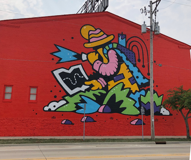 The Adventurer Mural by David Mark Zimmerman aka Bigshot Robot.