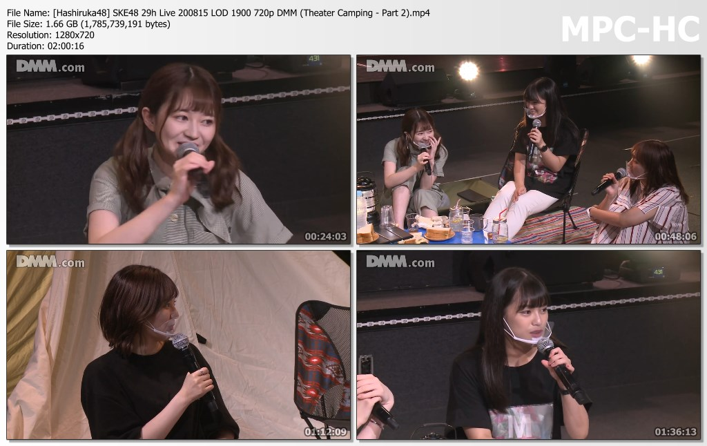 SKE48 29h Live 200815 LOD 1900 DMM (Theater Camping – Part 2)