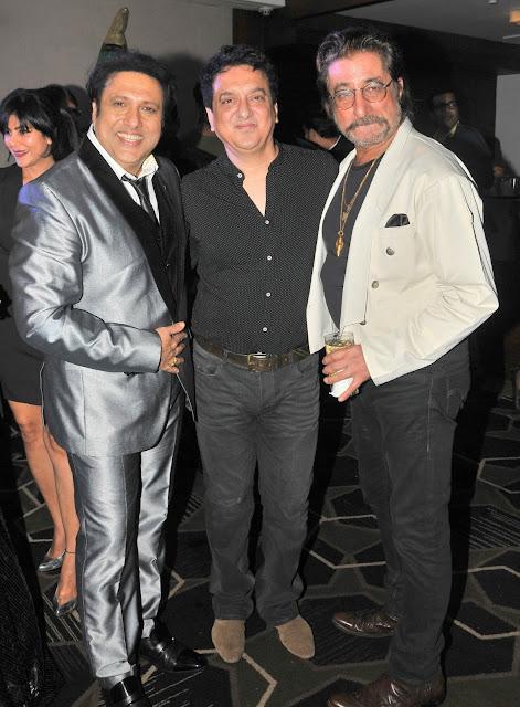 2. Govinda with Sajid Nadiawala and Shakti Kapoor