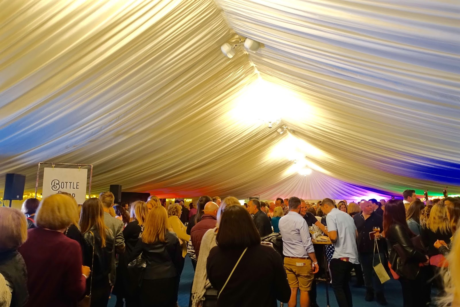 Gin festival 2017 at Guildford Cathedral Marquee