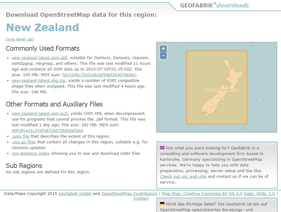 under the raedar: Urban footprints: some building outline data sources