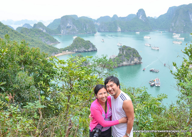 Ed and Lady in TiTop Island Halong Bay