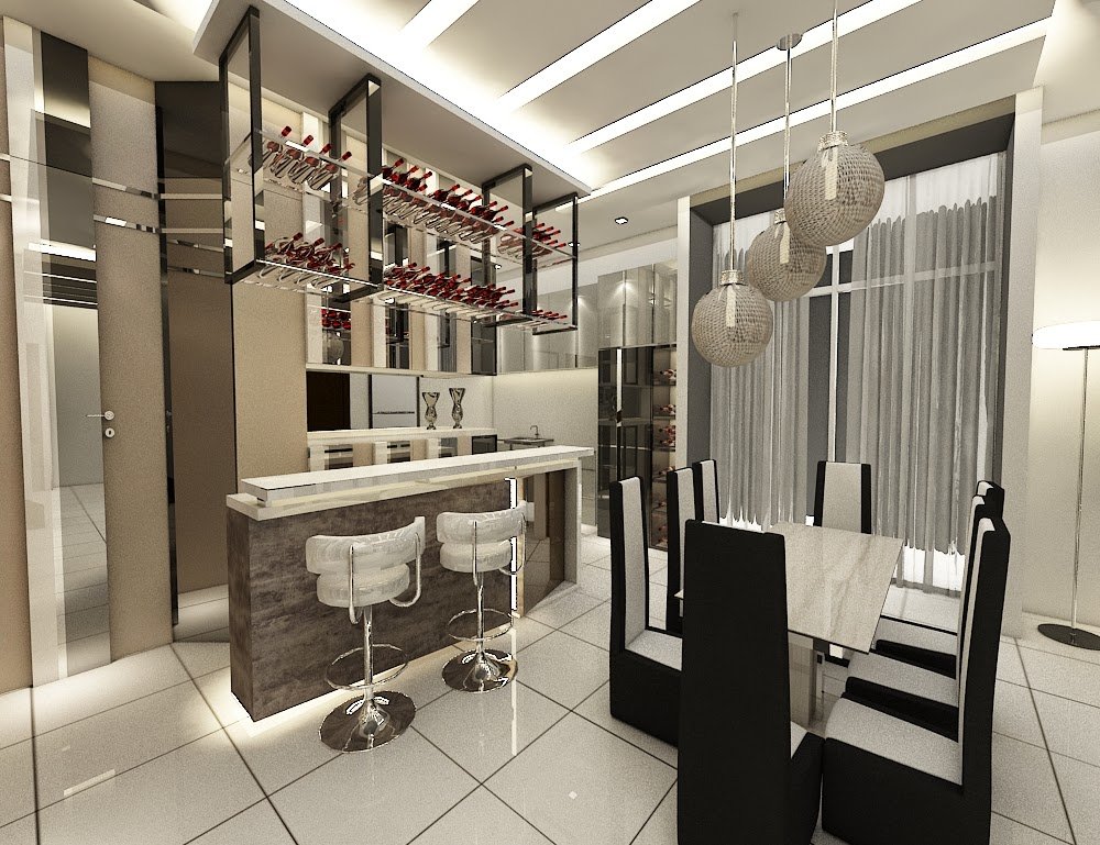 Xclusive Design Residential Interior Design 3D Drawings Awesome Bar Counter  Design 3d