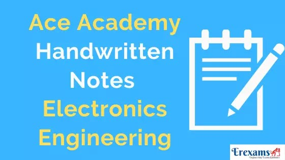Ace Academy Electronics (ECE) Notes & eBooks for Gate IES PSU Free Pdf Download