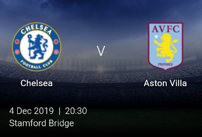 LIVE MATCH: Chelsea Vs Aston Villa Premier League 04/12/2019