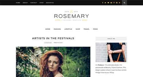 Rosemary Blogger Template