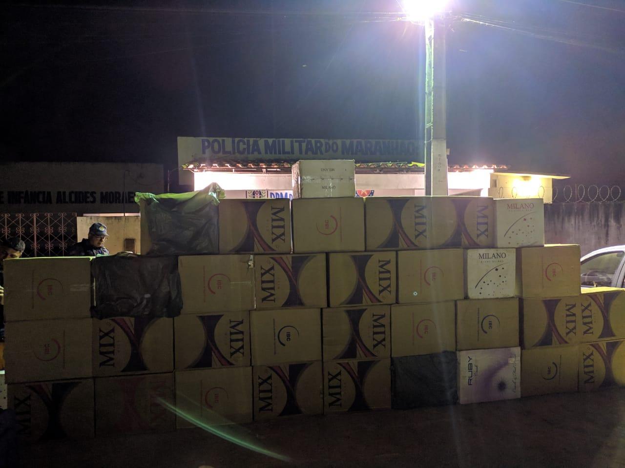 BREJO | 16º BPM: Policiais Militares Realizam Grande Apreensão de Cigarros e Whisky Contrabandeados, no Povoado Palestina