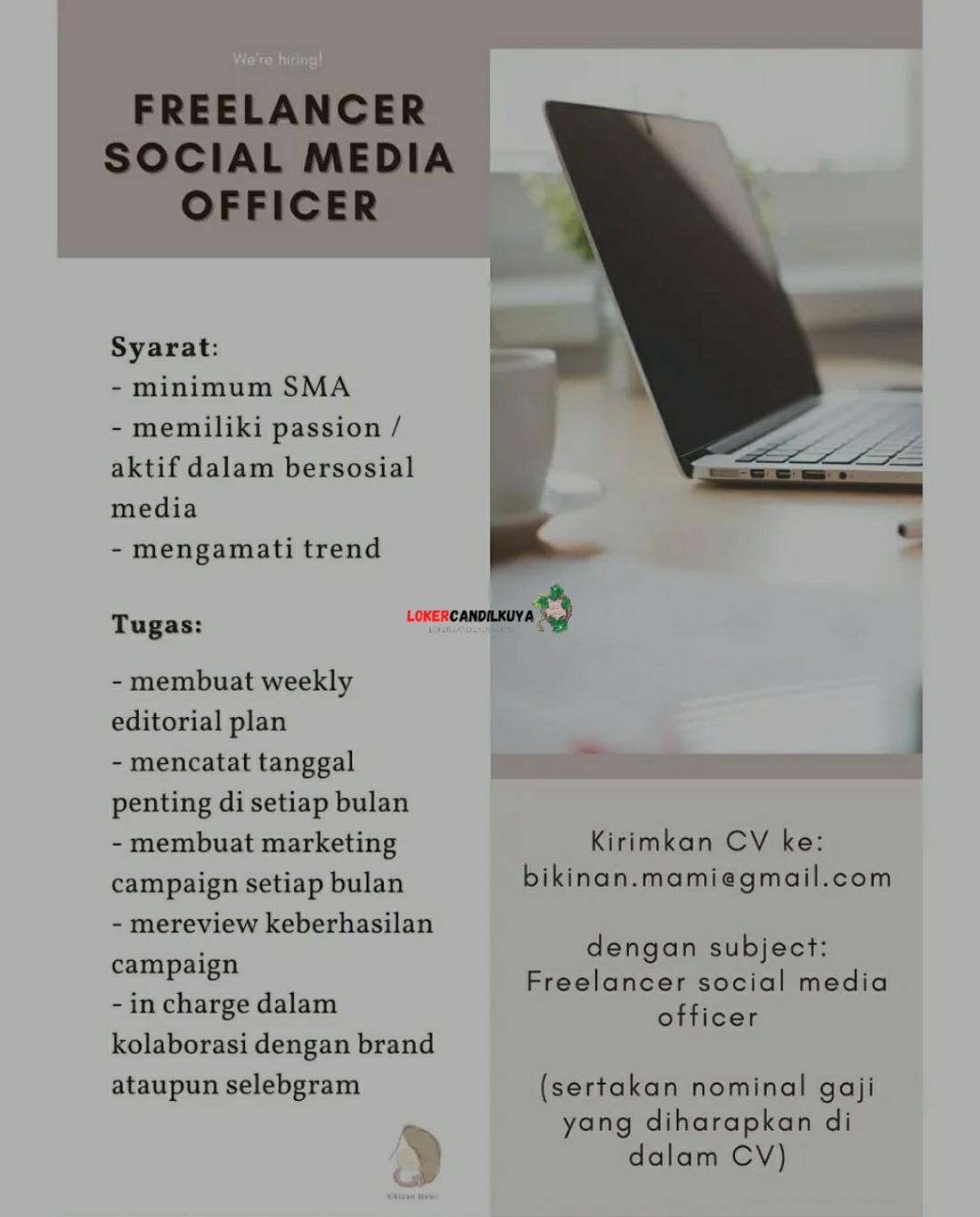 Lowongan Kerja Freelancer Social Media Officer