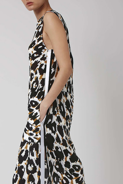 leopard boutique dress, leopard loose midi dress,