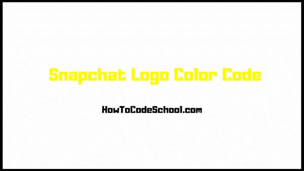 Snapchat Logo Color Code