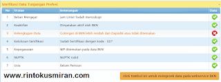 click tombol ini untuk mengecek data pada webservice BKN