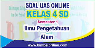Soal UAS IPA Online Kelas 4 SD Semester 1 ( Ganjil ) - Langsung Ada Nilainya
