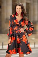 rochie-eleganta-cu-funda-in-talie-si-imprimeu-floral