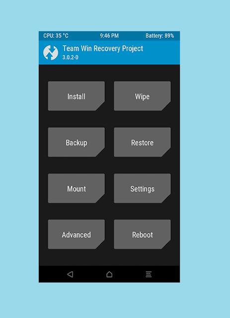 Buka TWRP Xiaomi Yang Terpasang