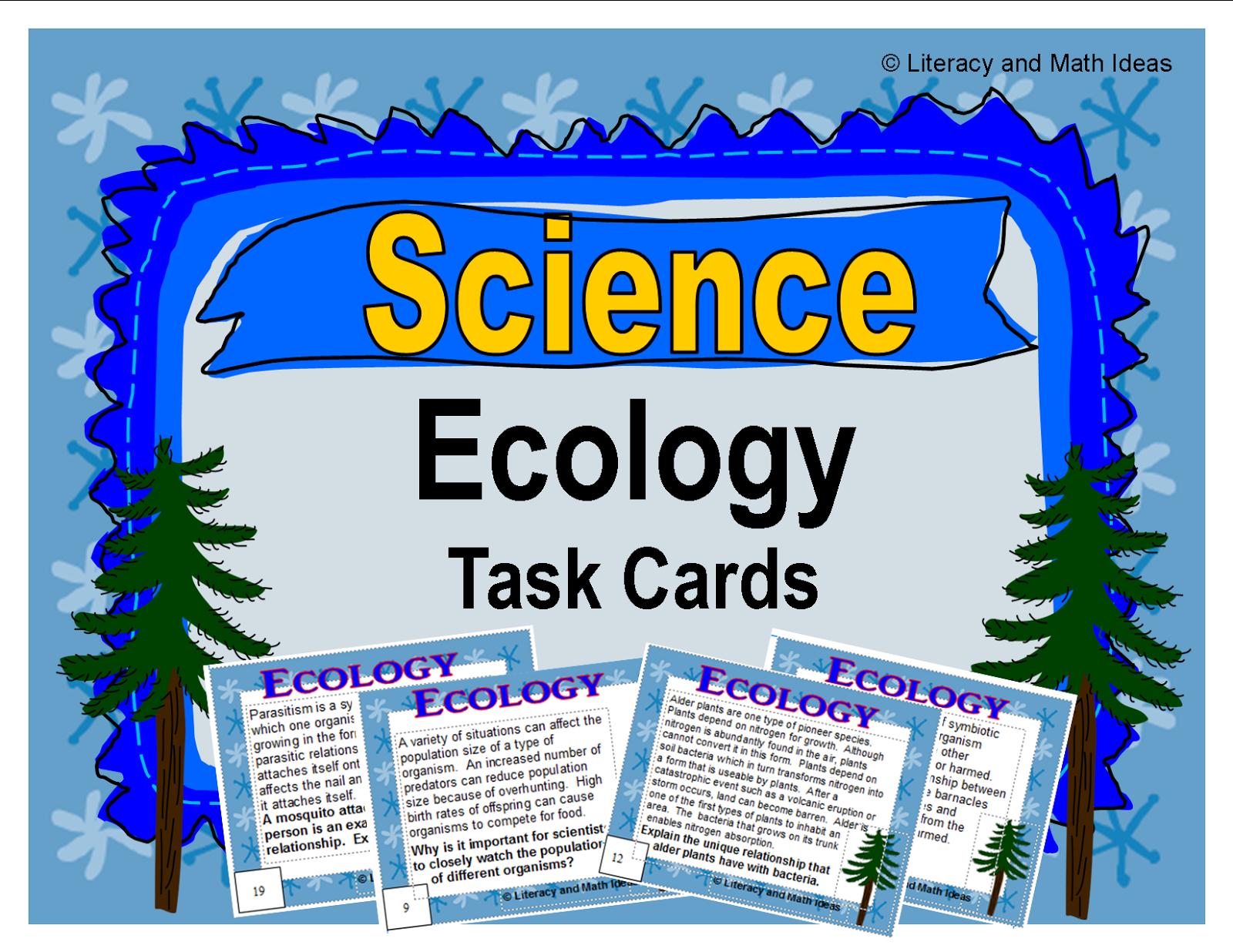 Literacy Amp Math Ideas Next Generation Science Standards Teaching Ecology
