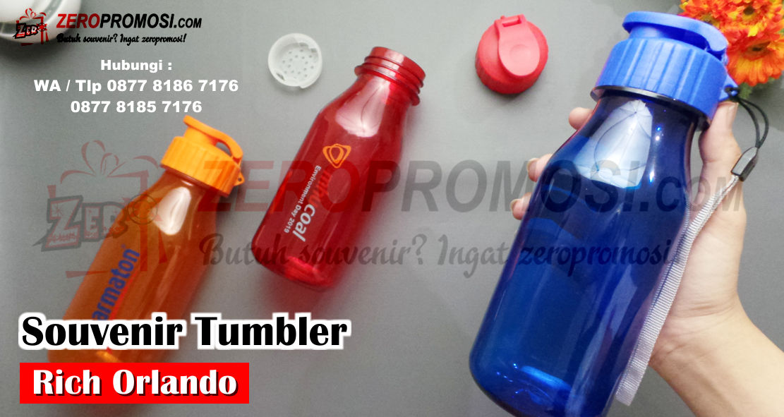 Tumbler Plastik Orlando Hydration Water Bottle, Botol Minum Orlando + Filter, Souvenir Botol Minum Tumbler Rich Orlando