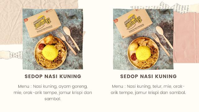 Sedop Nasi Kuning dan Tumpeng