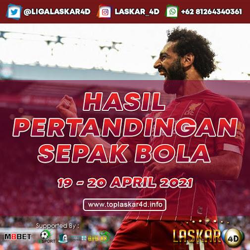 HASIL BOLA JITU TANGGAL 19 - 20 APRIL 2021