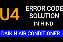 What is daikin error code u4 and how fix in hindi | Communication Fault