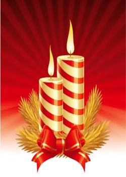 Christmas Candle Whatsapp  DP