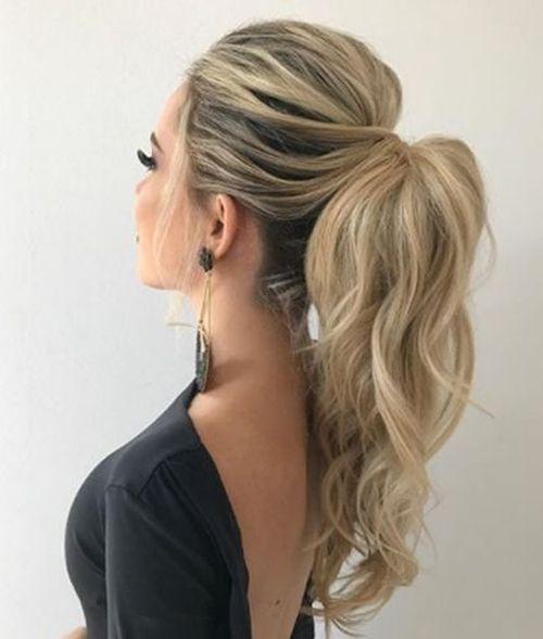 Peinados elegantes con coleta alta