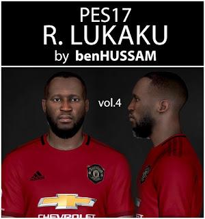 PES 2017 Faces Romelu Lukaku by BenHussam