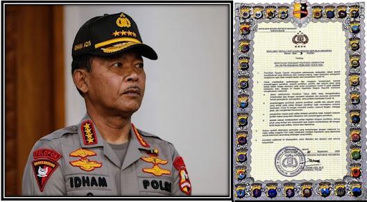 Kapolri Drs. IDHAM AZIS, M.Si. Dan Maklumatnya