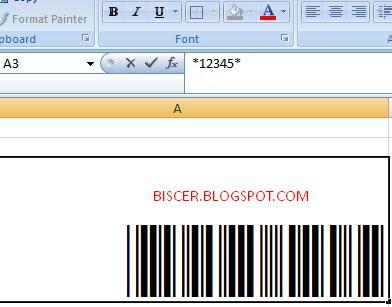 hasil barcode setelah diberikan tanda bintang