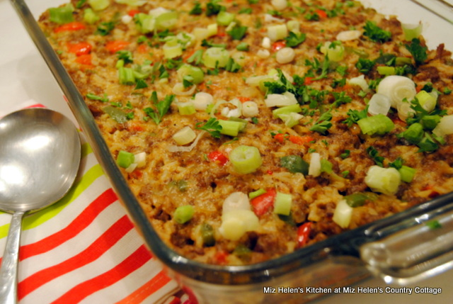 Southern Natchitoches Cajun Casserole at Miz Helen's Country Cottage