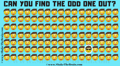 Answer of Find the Odd Emoji Out Picture Puzzle