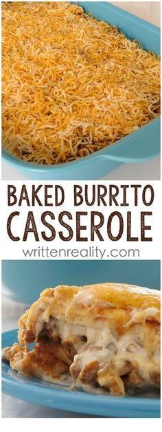 Easy Baked Burrito Casserole