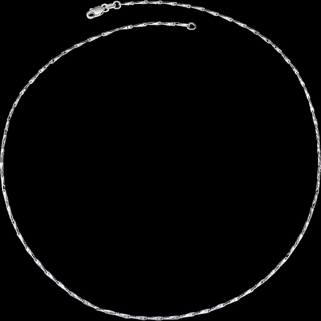 Dây chuyền Vàng trắng Ý 18K PNJ dây mắc tre 0000W000235
