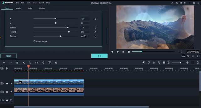 دورة تعلم وشرح filmora 9 كيفية دمج فيديو مع فيديو وصورة داخل صورة how to merge videos