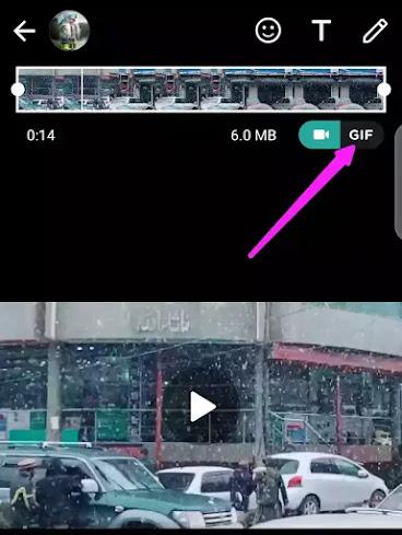 create GIF with whatsapp status
