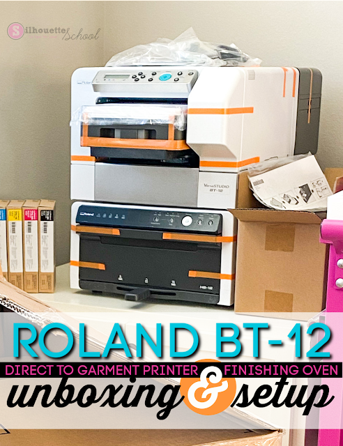 Roland, unboxing, DTG, direct to garment, sublimation, silhouette 101,
