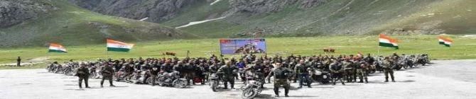 Indian Army Bikers Begin Ladakh-J&K Expedition To Commemorate Kargil Vijay Diwas