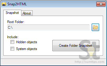 Snap2HTML application