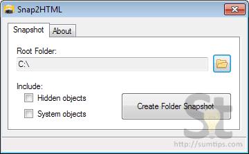 Snap2HTML application